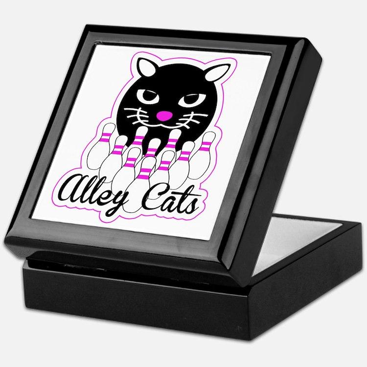 Alley Cat Bowling Keepsake Box