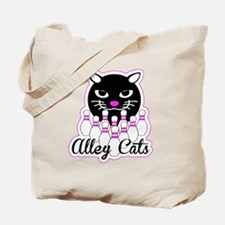 Alley Cat Bowling Tote Bag