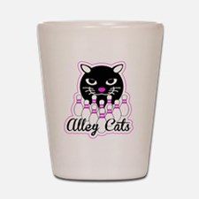 Alley Cat Bowling Shot Glass