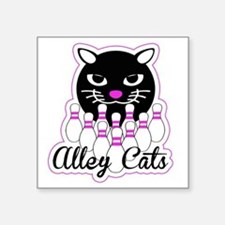"""Alley Cat Bowling Square Sticker 3"""" x 3"""""""