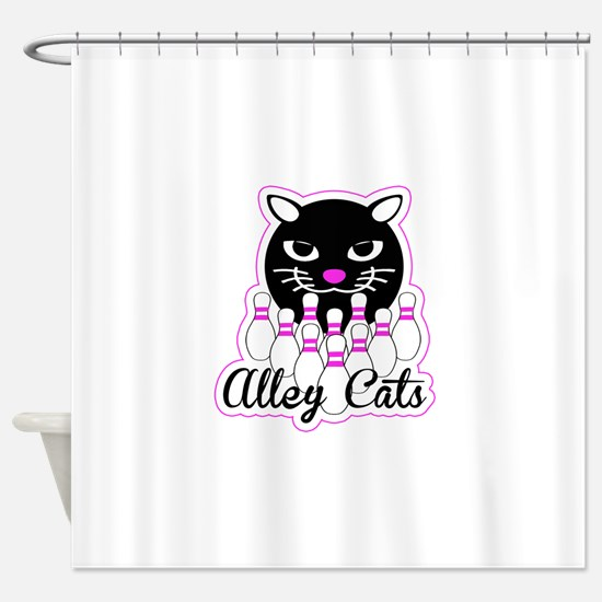 Alley Cat Bowling Shower Curtain