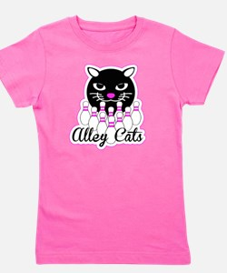 Alley Cat Bowling Girl's Tee