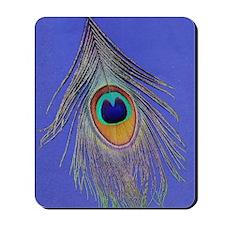 Peacock Feather Mousepad