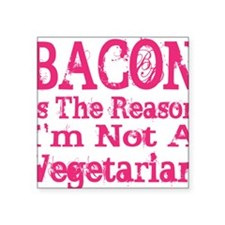 "Bacon 4 Square Sticker 3"" x 3"""