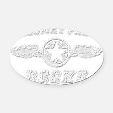 CALUMET PARK ROCKS Oval Car Magnet
