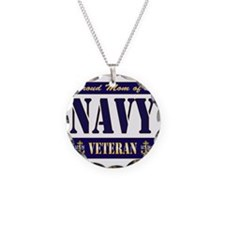 Proud Mom of a Navy Veteran Necklace