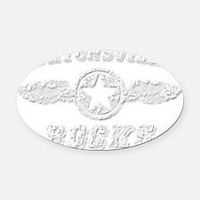 BURTONSVILLE ROCKS Oval Car Magnet