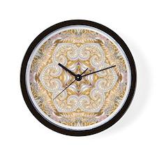 Ethereal Fractal Kaleidoscope Wall Clock