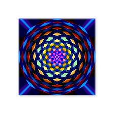 "rainbow weave Square Sticker 3"" x 3"""