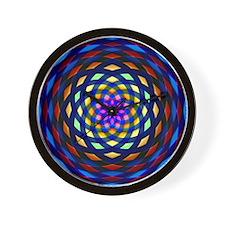 rainbow weave Wall Clock