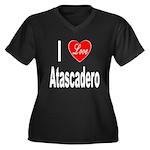 I Love Atascadero (Front) Women's Plus Size V-Neck