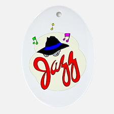 Jazz Oval Ornament