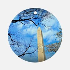 Washington Monument Round Ornament