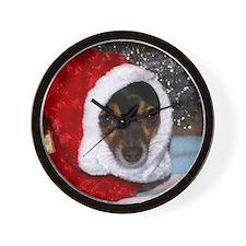 Toy Fox Terrier Christmas Wall Clock