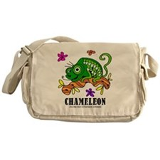 Cartoon Chameleon by Lorenzo Messenger Bag