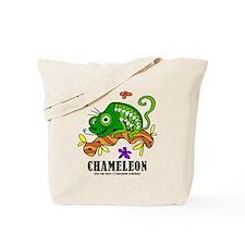 Cartoon Chameleon by Lorenzo Tote Bag