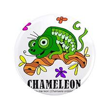 "Cartoon Chameleon by Lorenzo 3.5"" Button"