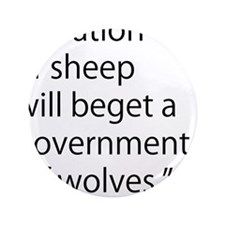 """Nation of Sheep 3.5"""" Button"""