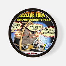 Progressive Talk Radio, an Endangered S Wall Clock