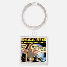 Progressive Talk Radio, an Endange Square Keychain