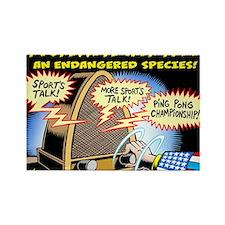 Progressive Talk Radio, an Endang Rectangle Magnet