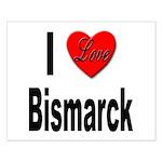 I Love Bismarck Small Poster