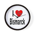 I Love Bismarck Wall Clock
