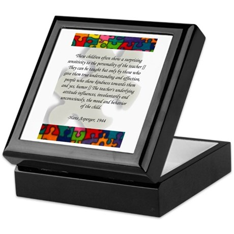 autism, asperger's quote Keepsake Box