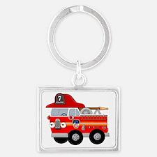 FD NY FIRE TRUCK Landscape Keychain