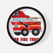 Mr Fire Truck Wall Clock