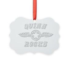 QUINN ROCKS Ornament