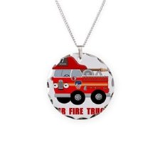 Mr Fire Truck Necklace