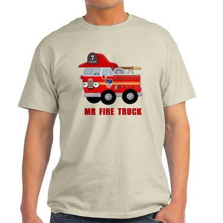Mr Fire Truck Light T-Shirt