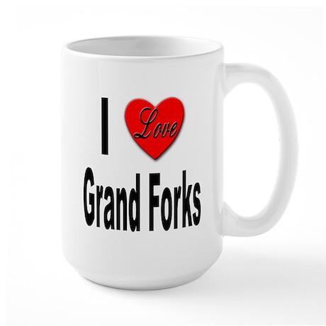 I Love Grand Forks Large Mug