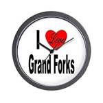 I Love Grand Forks Wall Clock