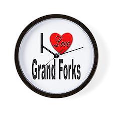I Love Grand Forks Wall Clock