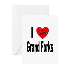 I Love Grand Forks Greeting Cards (Pk of 10)