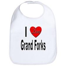 I Love Grand Forks Bib