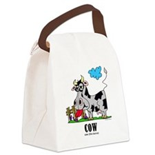 Cartoon Cow by Lorenzo Canvas Lunch Bag
