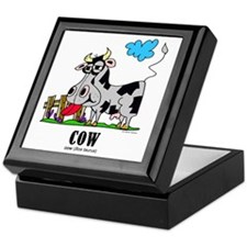 Cartoon Cow by Lorenzo Keepsake Box