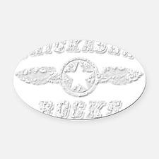CHICKASAW ROCKS Oval Car Magnet