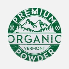 Vermont Powder Round Ornament