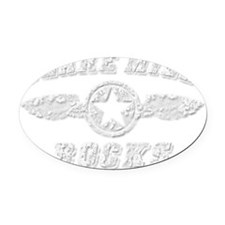 CLARE MILL ROCKS Oval Car Magnet