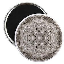 Silver Fractal Kaleidoscope Magnet