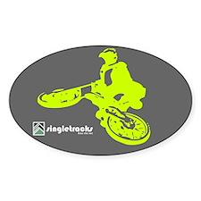 Singletracks oval sticker