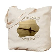 Funny Uss georgia Tote Bag