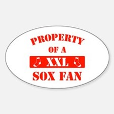Property Of A Sox Fan Oval Decal