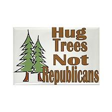 Hug Trees Not Republicans Rectangle Magnet