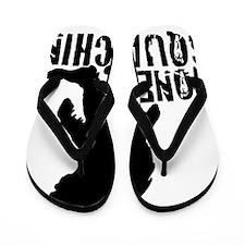 Gone squatchin print 2 Flip Flops