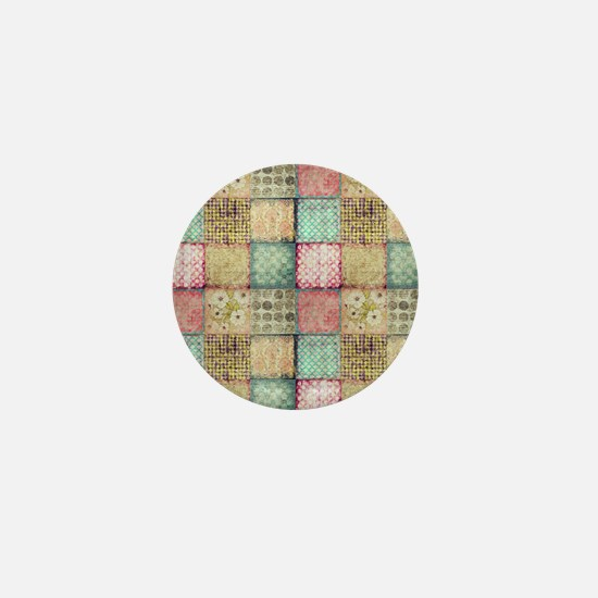 Vintage Quilt Mini Button